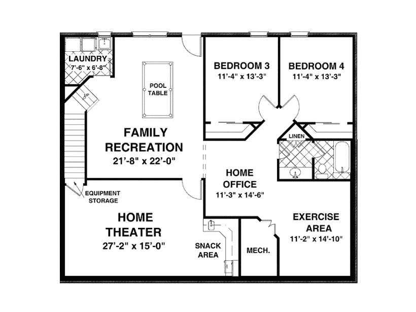 1500 square feet open floor plans