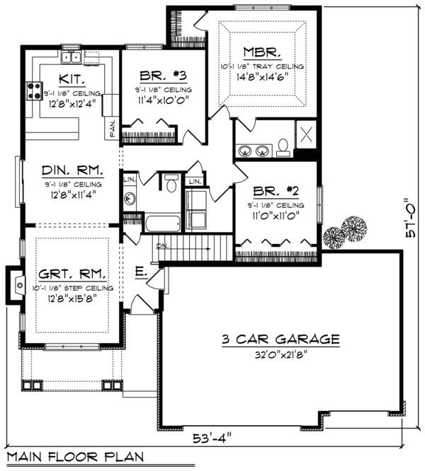 1500 square feet 3 bedroom 2 bathroom 3 garage ranch traditional 39572