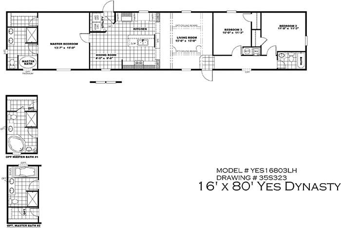 16 x 80 mobile home floor plans elegant clayton yes series mobile homes 1st choice home centers