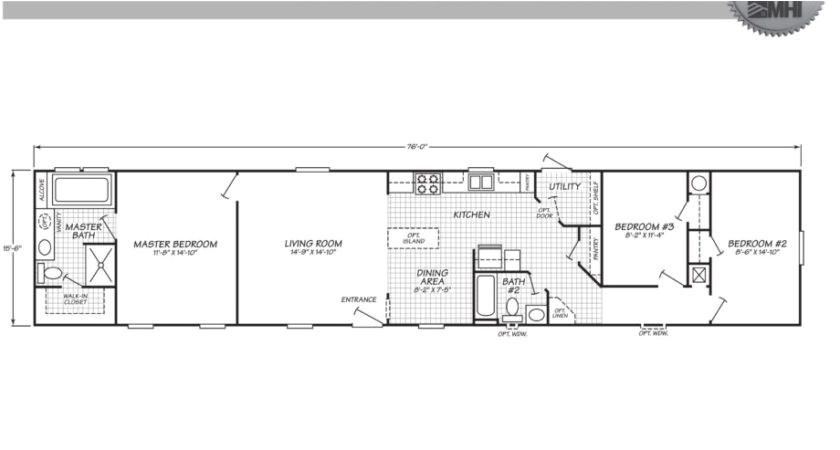 39 top photos ideas for 16 x 80 mobile home floor plans
