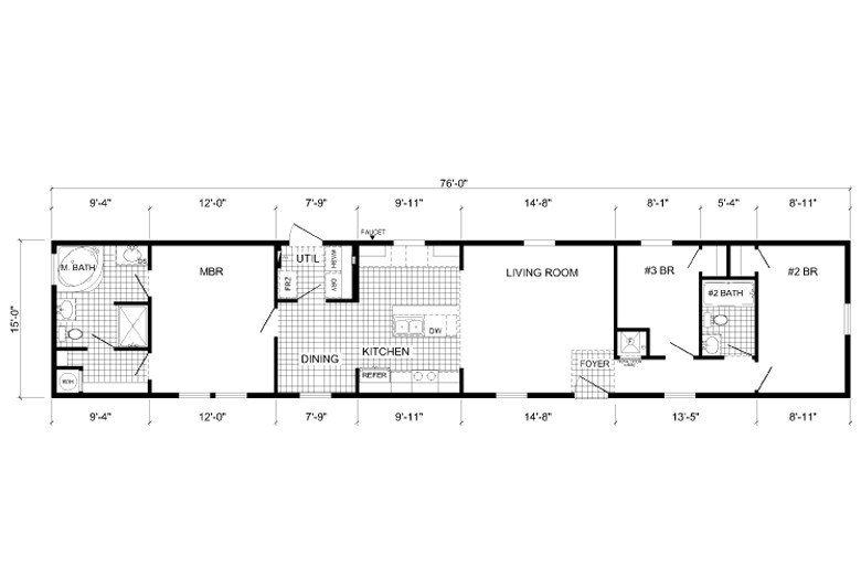 16 X 80 Mobile Home Floor Plans Single Wide Mobile Homes