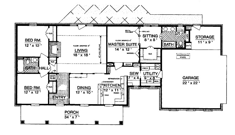 1600 square foot cottage plans