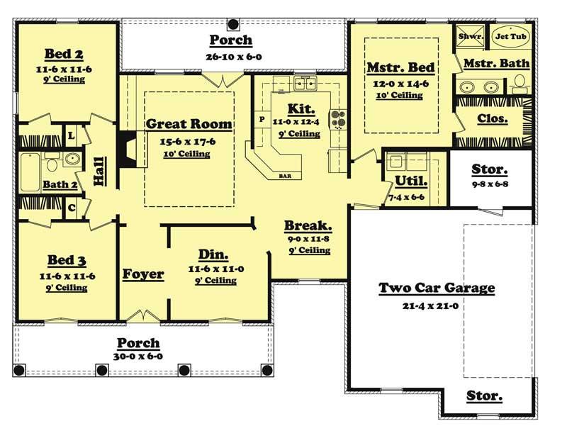 home plan 20615