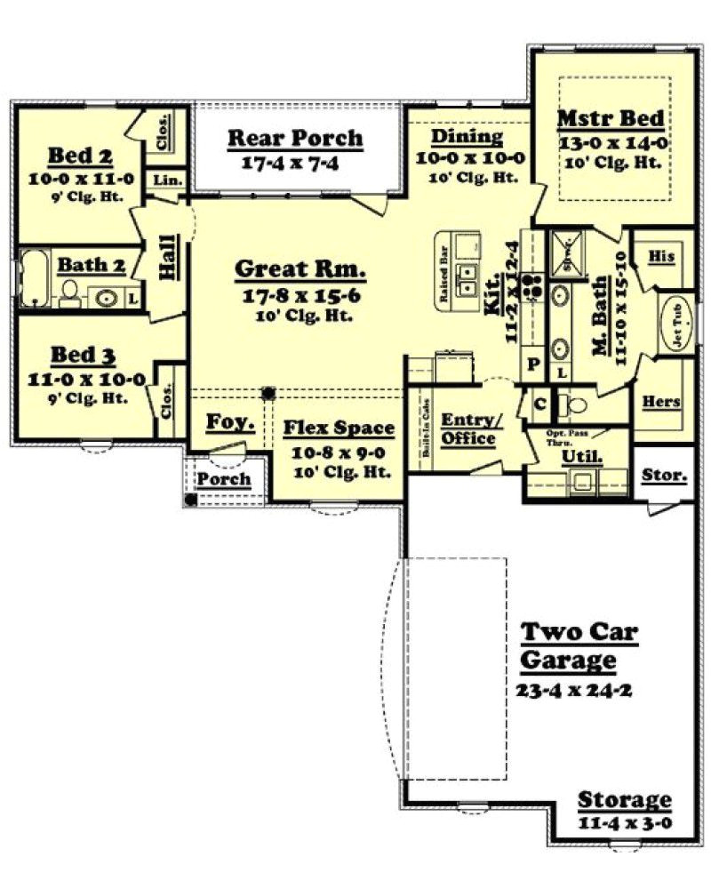 1600 sq ft ranch style house plans