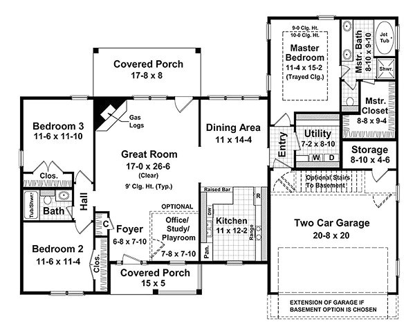 1700 square feet 3 bedrooms 2 bathroom cape cod house plans 2 garage 12823