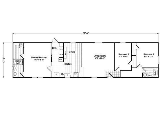 18 wide mobile home floor plans