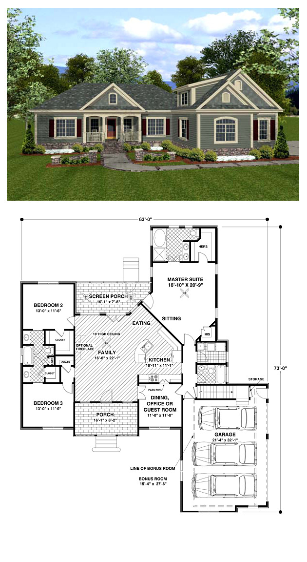 1800 Sq Ft Craftsman Style House Plans Craftsman House Plan 92385 total Living area 1800 Sq Ft