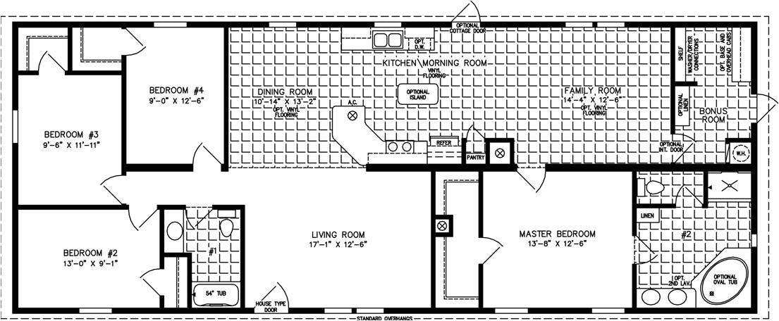 1800 square foot open concept floor plan