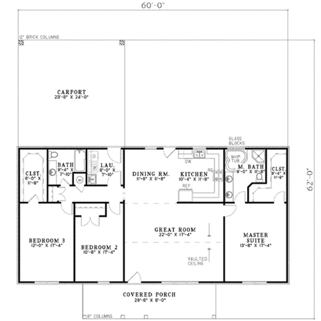 1800 square feet 3 bedrooms 2 bathroom country house plans 0 garage 16358