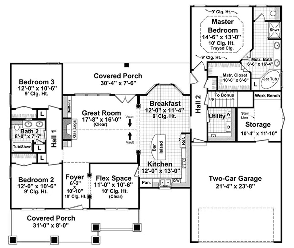 1800 square feet 3 bedrooms 2 bathroom craftsman home plans 2 garage 28805