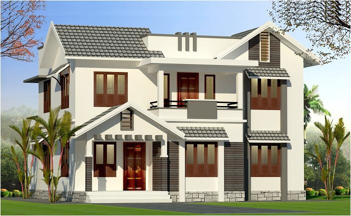 1900 sq ft double floor kerala home design