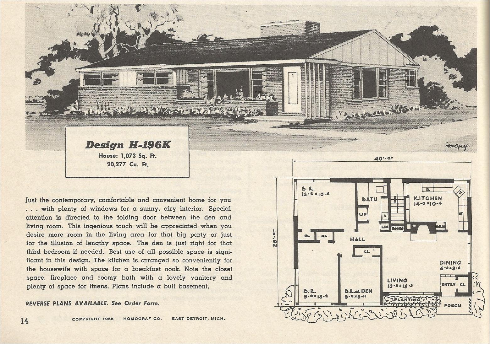 vintage house plans 196