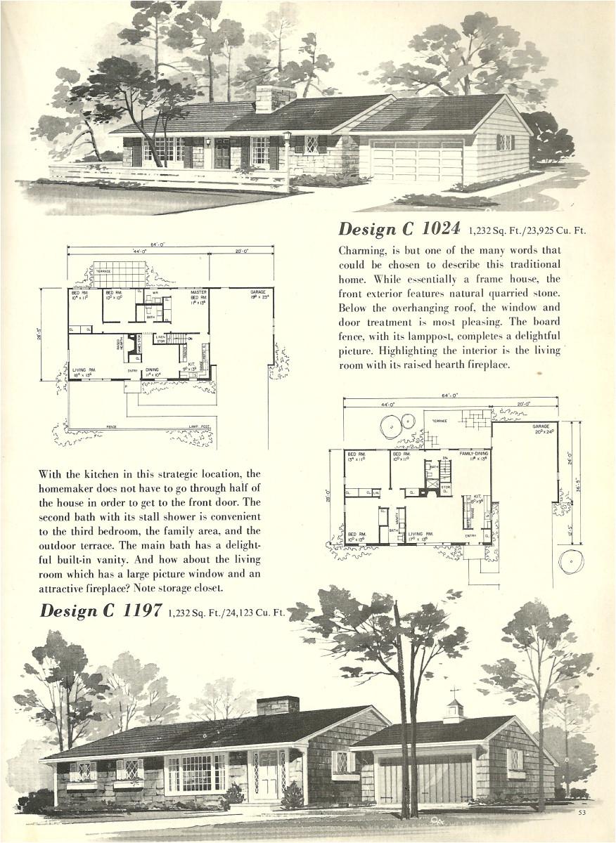 vintage house plans 1024