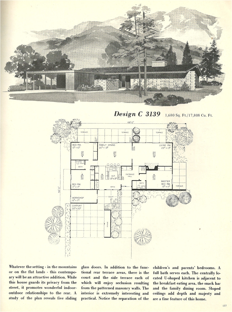 vintage house plans 3139