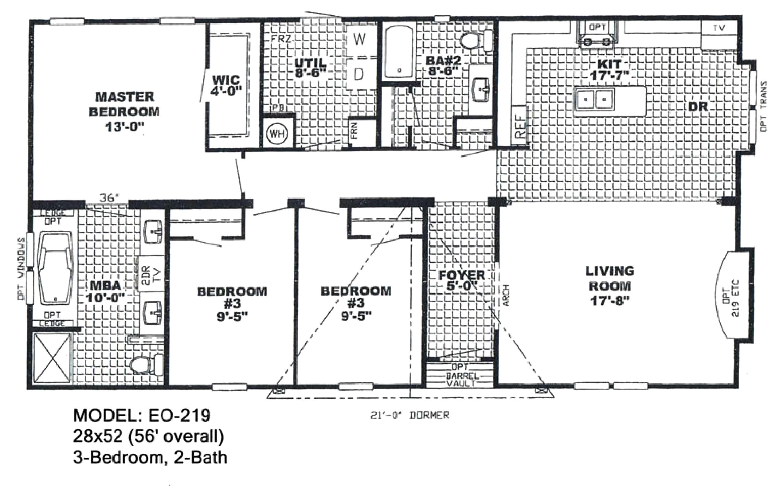 1997 oakwood mobile home models
