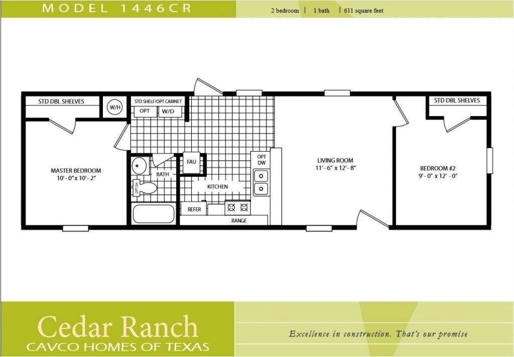 2 bedroom manufactured home plans