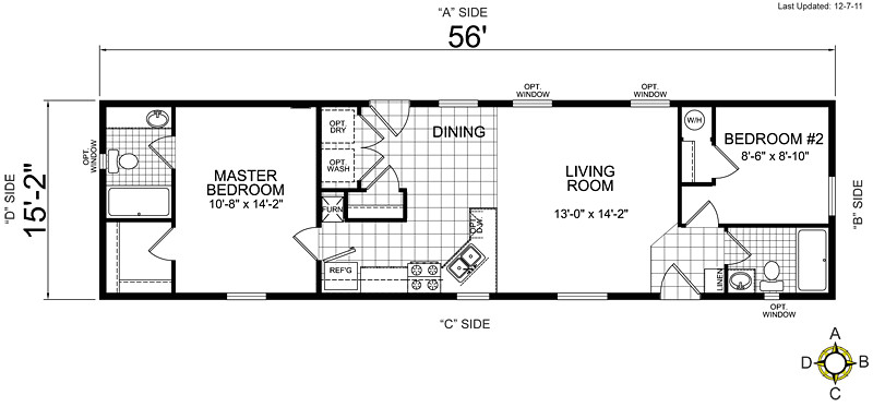 2 bedroom mobile home plans