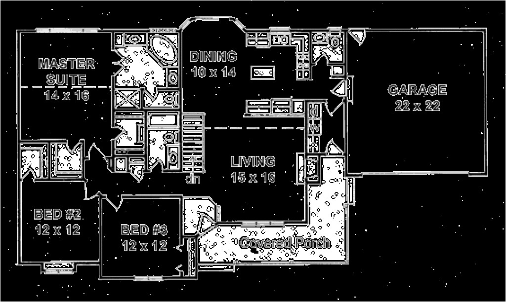 1586 square feet 3 bedrooms 2 5 bathroom ranch house plans 2 garage 14273