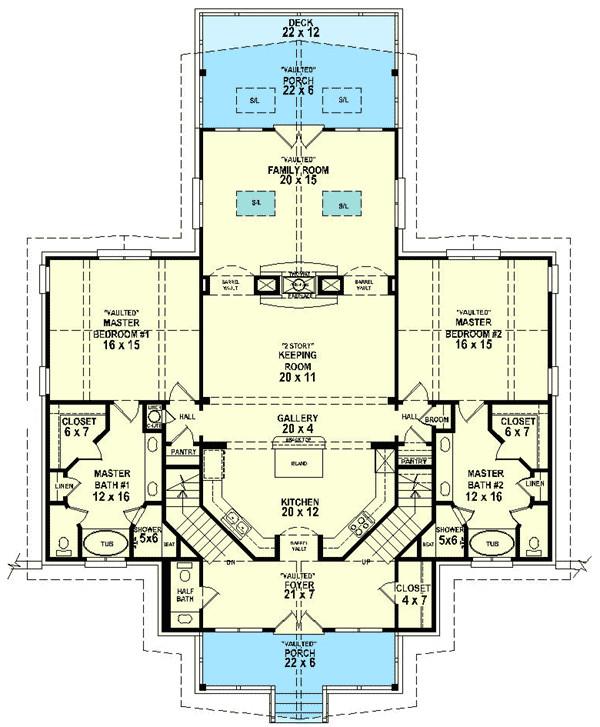 dual master suites 58566sv