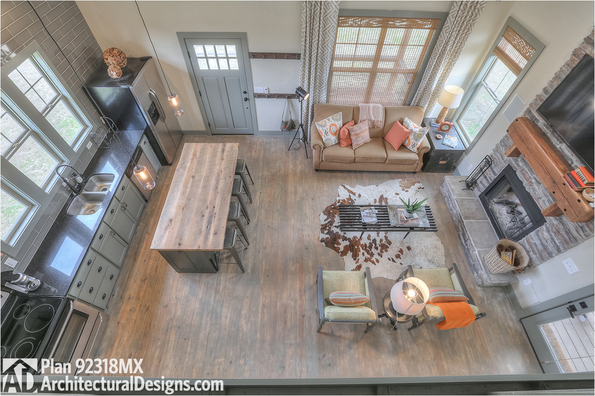 3 bedroom dog trot house plan 92318mx
