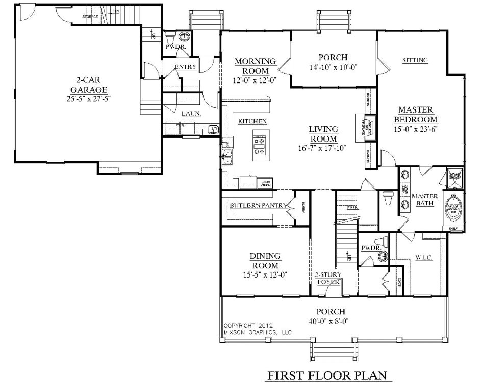 home floor plans color 2 story