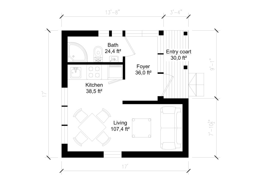 200 sq ft house plans