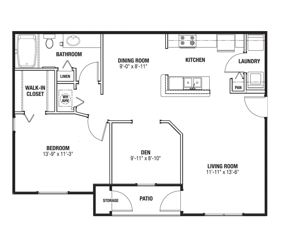 200 square foot apartment layout