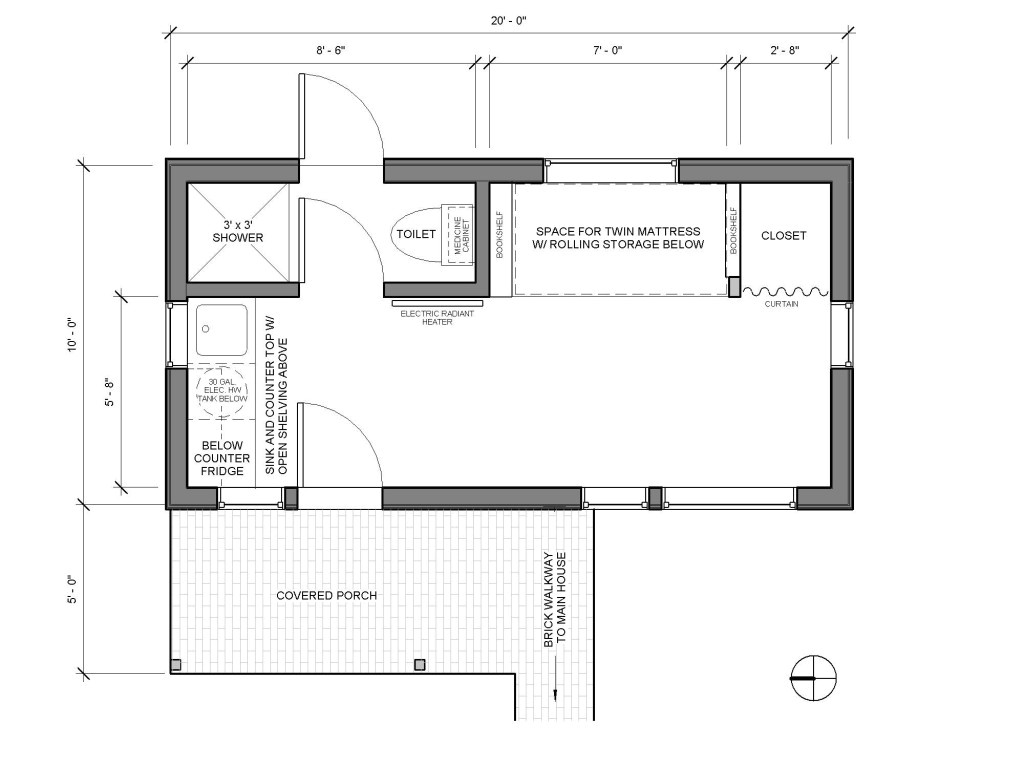 small house plans 200 square feet