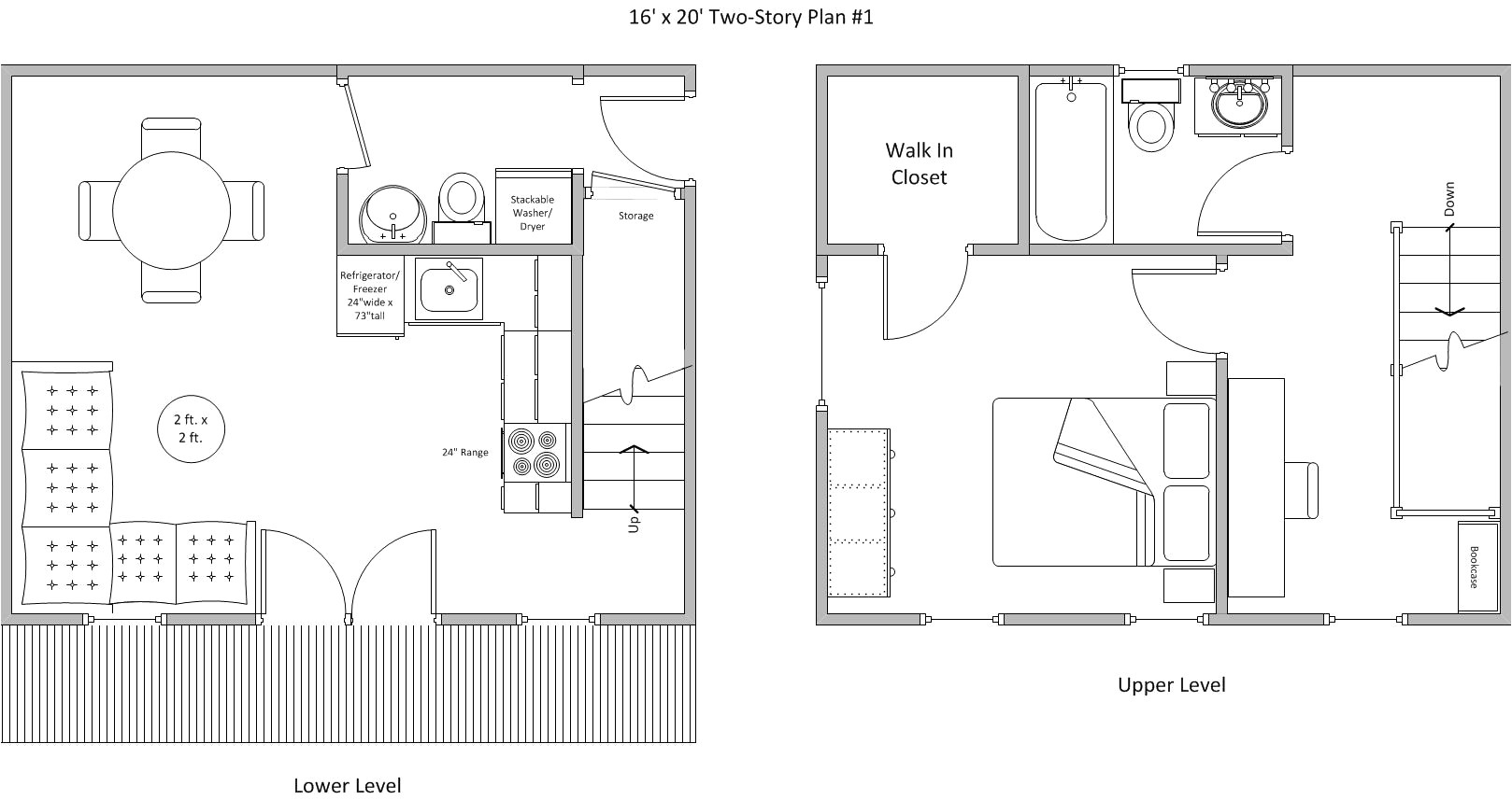 20 x 20 small house plan best of download 20 x 36 cabin floor plans
