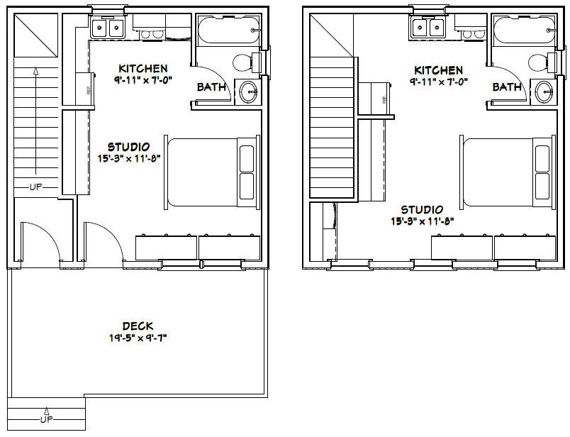 20x20 house plans 20x20 duplex 20x20h1 683 sq ft excellent floor plans