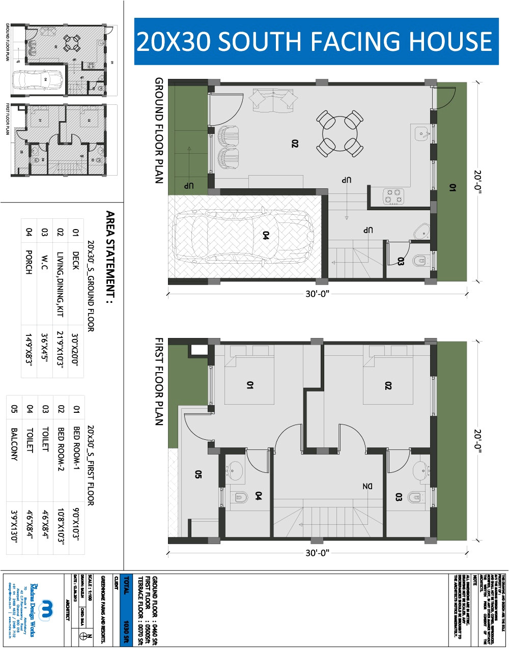 20 x 40 indian house plans