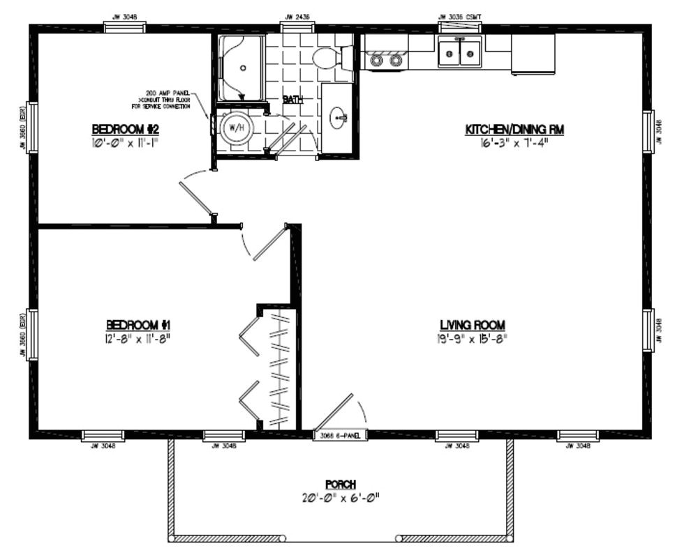 24 x 36 house plan with loft