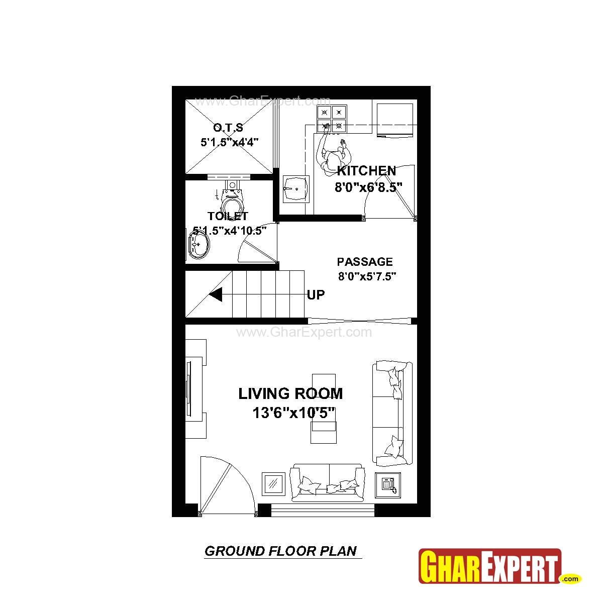 house plan for 15 feet by 25 plot size 42 square yards throughout foot wide plans