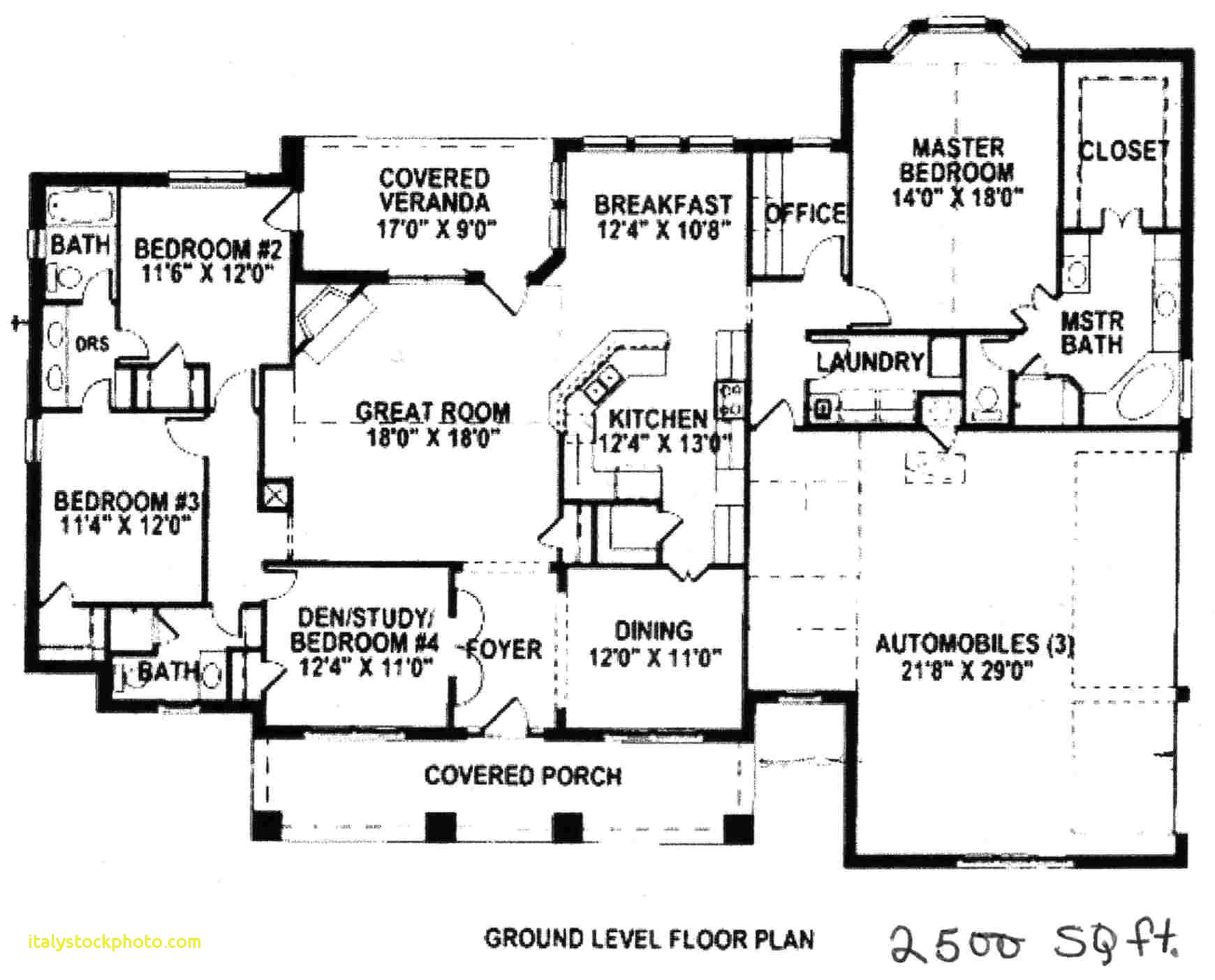 4 bedroom house plans under 2500 sq ft