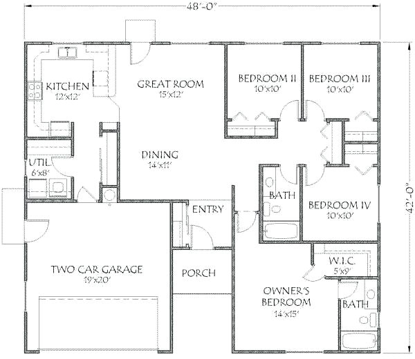 2800 square feet single floor house plans