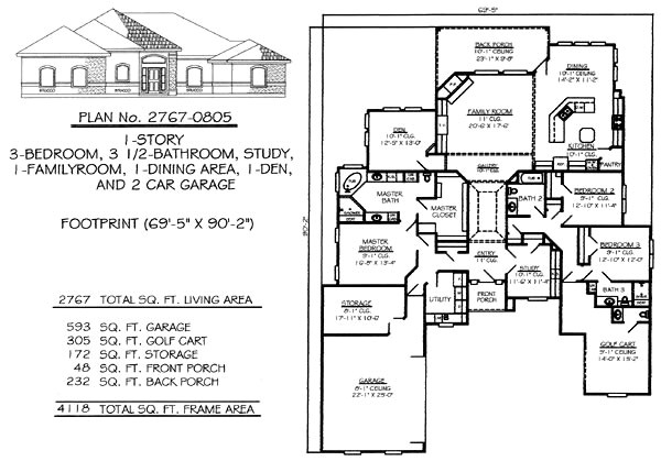 2800 Sq Ft House Plans Single Floor 3 Bedrooms 2250 2800 Square Feet