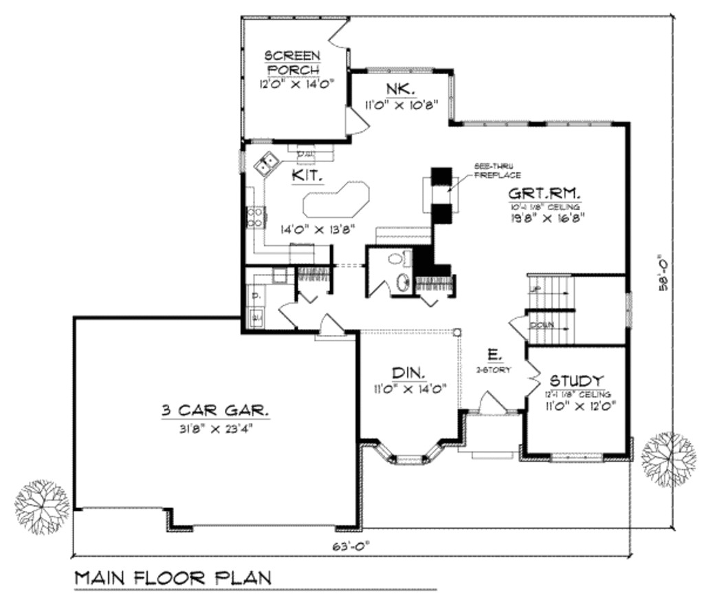 2800 square feet 4 bedrooms 2 5 bathroom traditional house plans 3 garage 10094