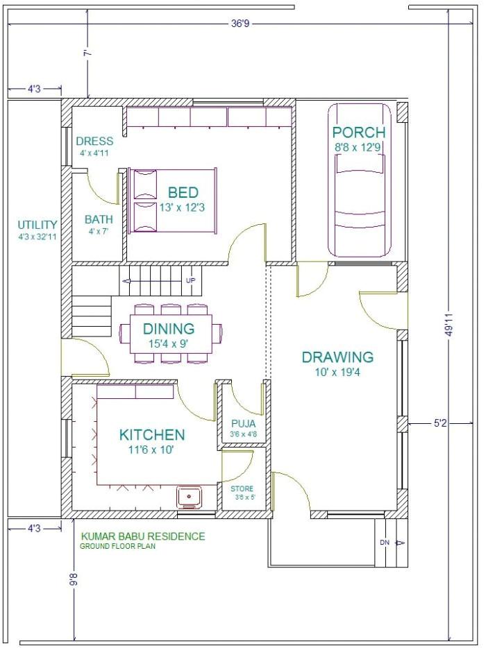 24 x 28 house plans
