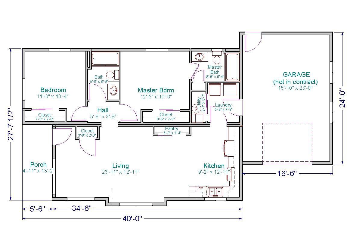 28 x 40 house plans
