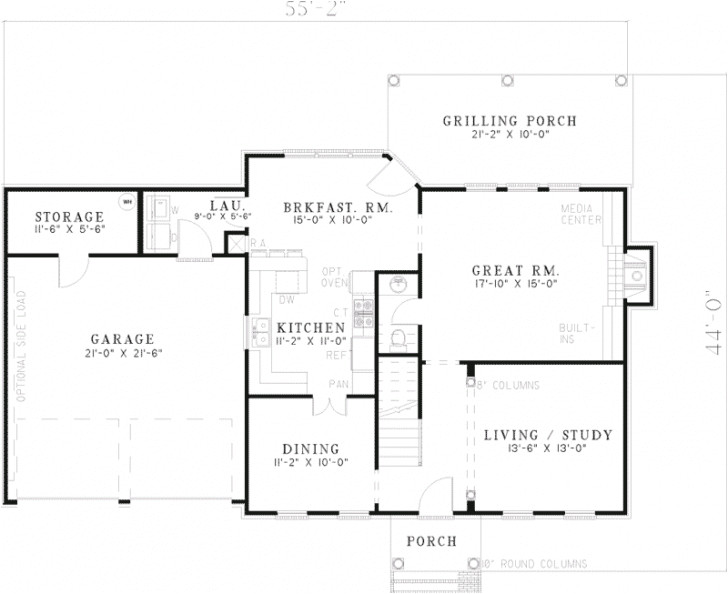 colonial home floor plans with pictures