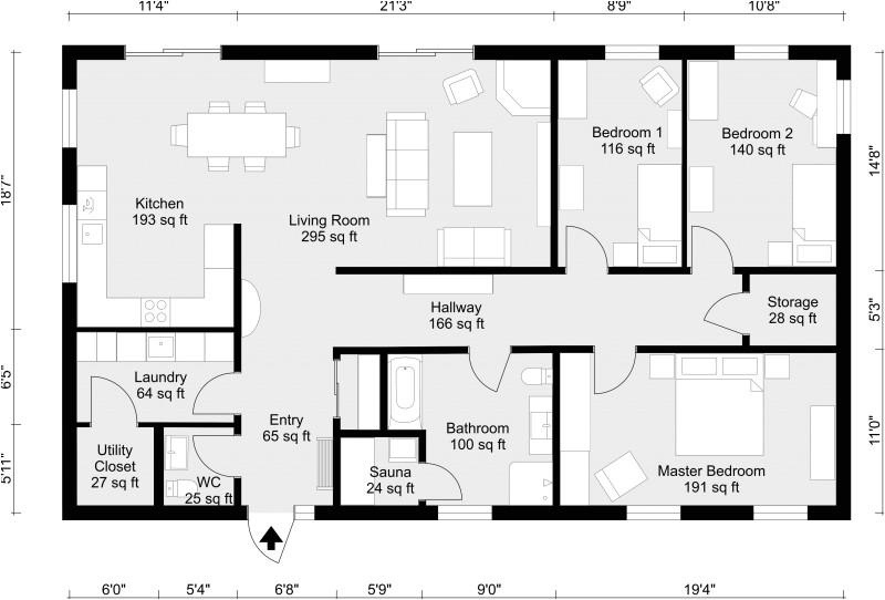 2d Home Design Plan Drawing 2d Floor Plans Roomsketcher