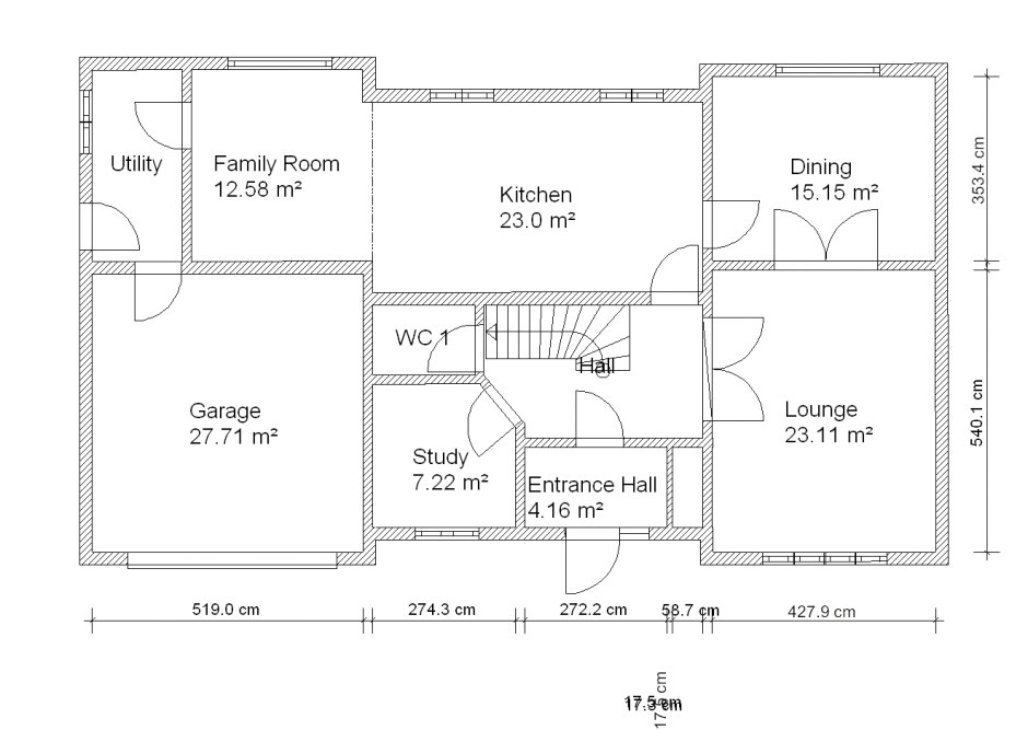 2d plan of house