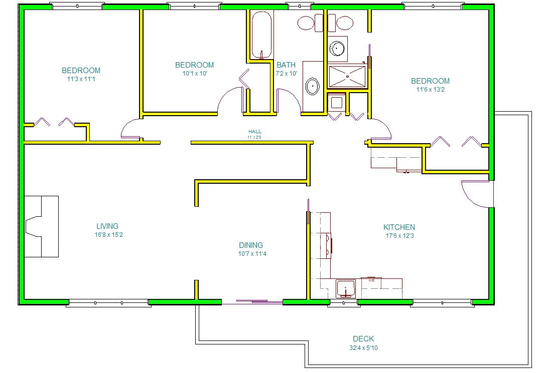 autocad house drawing