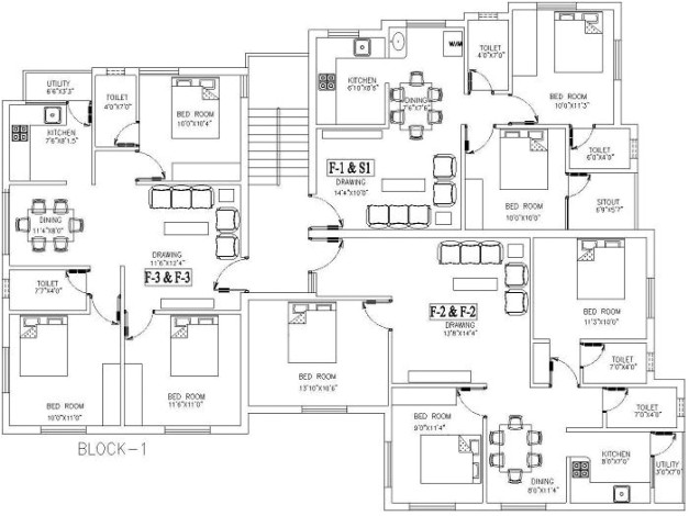 stylish 2d autocad house plans residential building drawings cad services 2d best plan drawing pic