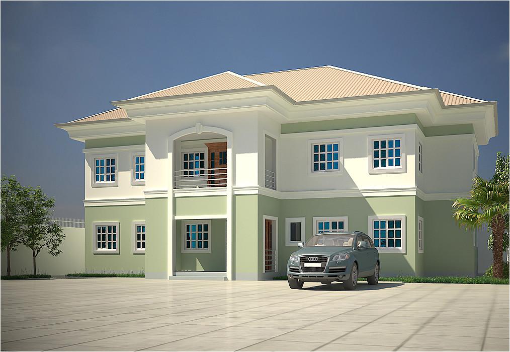 modern duplex house plans in nigeria