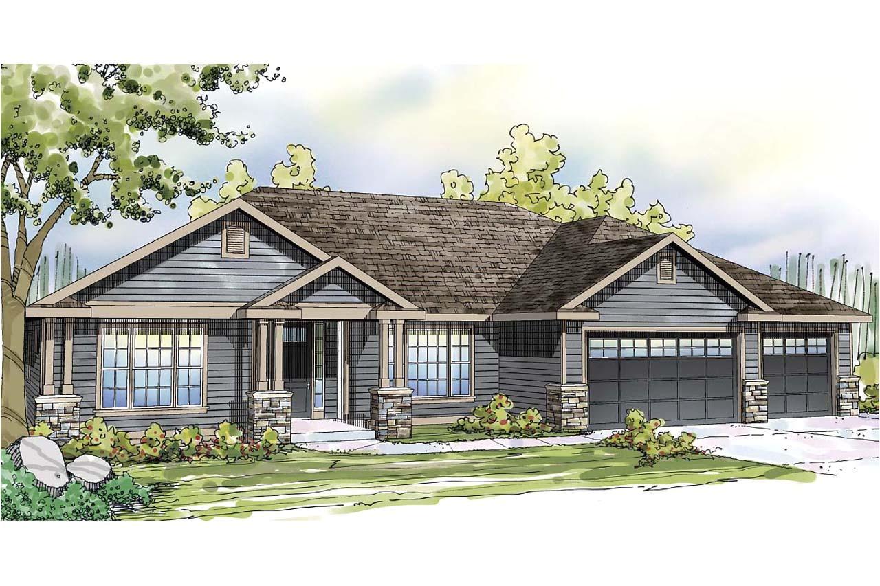 3 car garage house plans ranch house