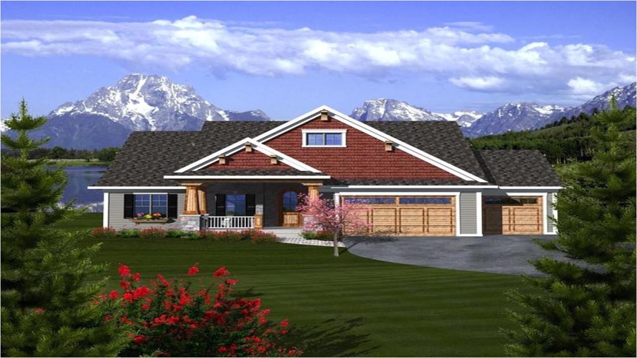 3907a78e3e9e7cef craftsman ranch house plans with 3 car garage craftsman ranch house plans with 3 car garage