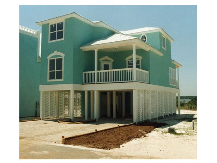 3 story beach house plans on pilings