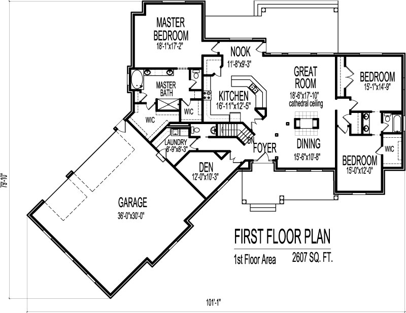 craftsman home plans under 3000 square feet