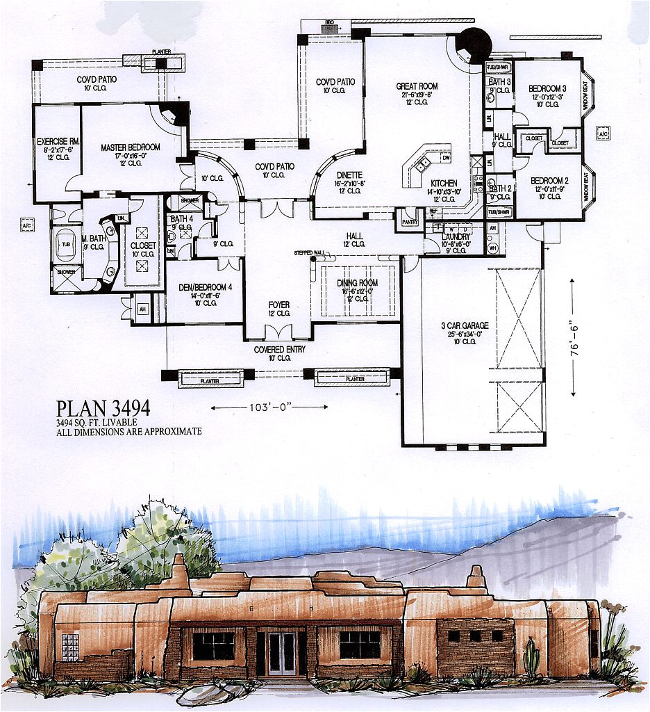 3500 square feet house plans
